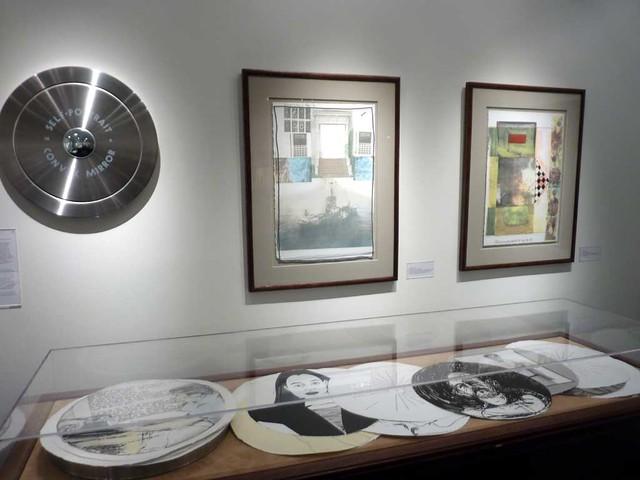P1040197-2010-09-23-Twinrocker-Opening-GaTech-Self-Portraits-on-wall-Rauschenberg
