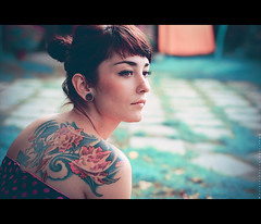 Her flovers (basistka) Tags: portrait woman girl tattoo canon eos 7d flovers basistka