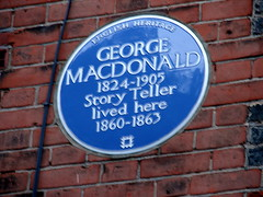 Photo of George MacDonald blue plaque