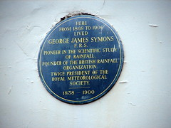 Photo of George James Symons blue plaque