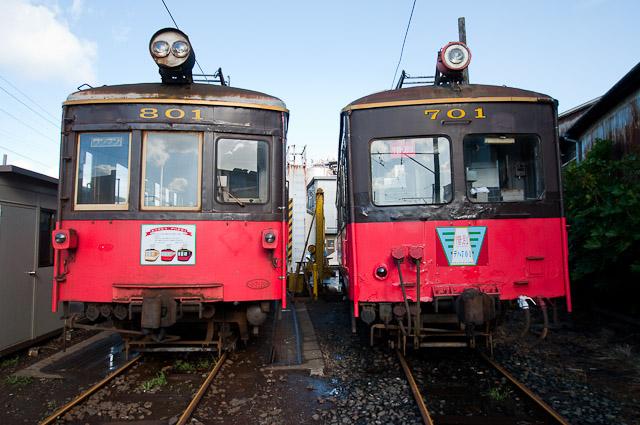 銚子電鉄 デハ801・デハ701