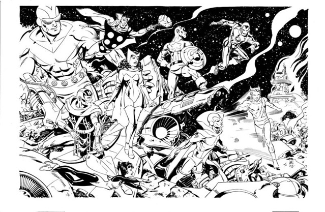 Avengers by Paul Smith from ComicArtFans Malcolm Bourne