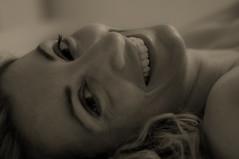 Buongiono felicit (Nikonizzata) Tags: portrait bw me girl smile self bn sorriso ritratto ragazza happyness felicit
