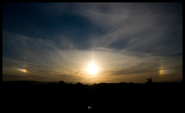 sundogs over Santiago