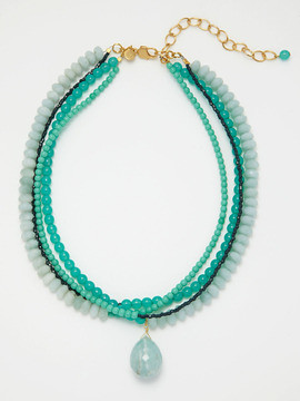 David Aubrey necklace blue-green