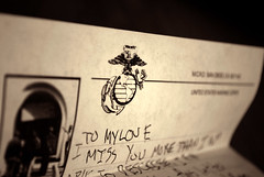 im already there - lonestar (jmrpixie) Tags: shadow red black love yellow loving usmc contrast writing vintage dark hope words missing marine san girlfriend heart bright symbol you faith letters diego your corps letter marines semper fi miss edit mcrd