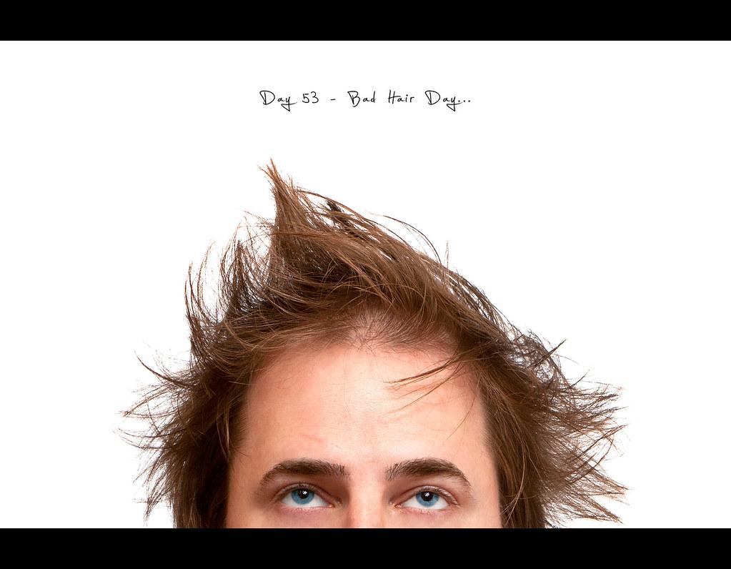 Day 53, 053/365, Project 365, Strobist, Self Portrait, Pocketwizard Plus II, Bad Hair Day
