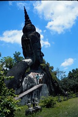 Xieng Khuan, Buddha park near Vientiane, Laos (Exodus Travels - Reset your compass) Tags: la buddha adventure laos client vientiane adventuretravel xiengkhuan exodustravels