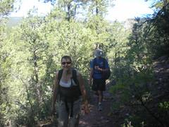 Kat & Dennis Hiking to El Rito Sport Climbing Crag