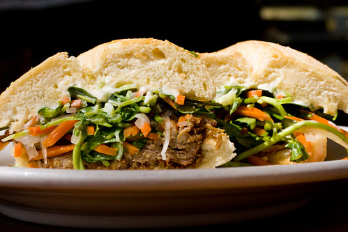 Asian pork sandwich, Astor Bake Shop