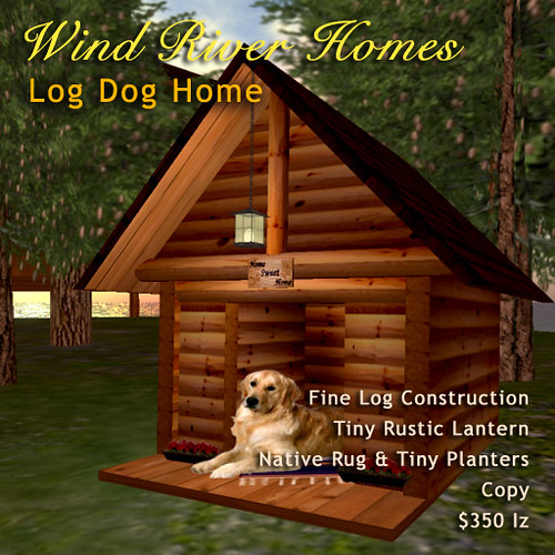 Log Dog Home by Teal Freenote