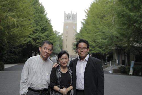 Me and parents in front of Okuma Hall