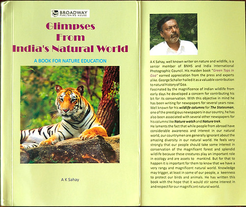 "Cover ""Glimpses from India's natural world"" A book for nature education - By Shri AK Sahay. (cover image - Shri Vivek Sinha)"
