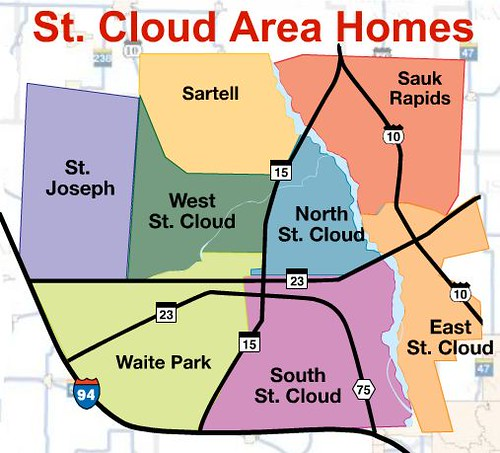 st cloud area MAP, i-94homes, st. cloud homes for sale