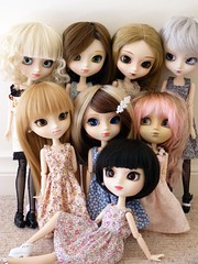 My pullip family (Astrihol) Tags: doll group pullip chipped obitsu rewigged october2010 mypullipfamily alleightpullips