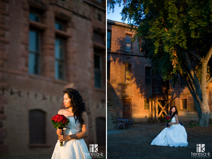 Gold Country Bridal Session at the Preston Castle in Ione California