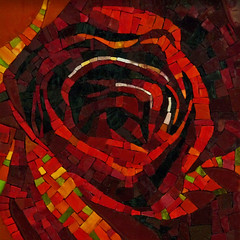 Francoise Moulet (Lin Schorr) Tags: art rose mosaic giving fundraising donations mdecinssansfrontires doctorswithoutborders onlineauction mosaicart linschorr artdonations linschorrcom mosaicauction mosaicdonations francoisemoulet lerougeetlenoirrose