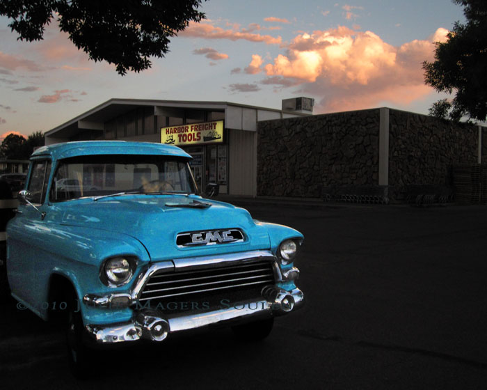 1957 Blue GMC Pickup Truck