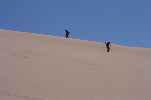 The walk to the top of the dune