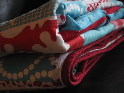 folded Sampler quilt