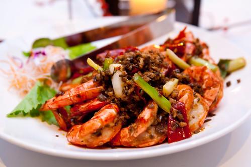 Dry-sauteed prawns (Szechuan)