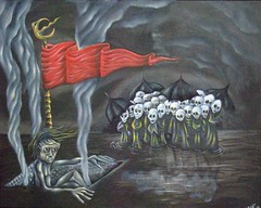 The Procession (Grant Cunningham) Tags: dark painting intense colorful montreal vibrant grant fineart gothic goth fantasy horror cunningham bizarre alternative oilpainting lowbrow apocalyptic gothart darkart finearts lowbrowart alternativeart gothicart montrealais montrealer bizarreart montrealartist grantcunningham grantmontreal