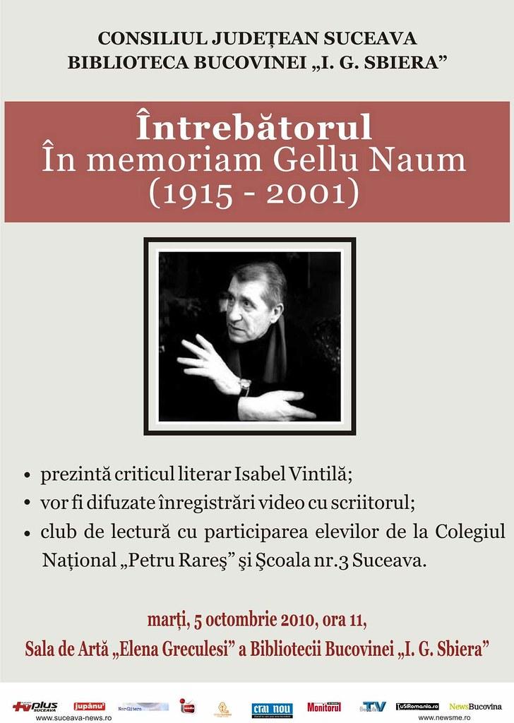 În memoria lui Gellu Naum