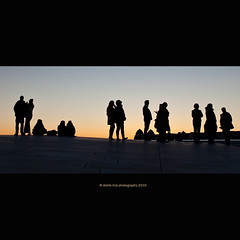 All the world's a stage... (stella-mia) Tags: sunset silhouette oslo norway evening opera stage silhouettes explore 2470mm alltheworldsastage explored oslooperahouse canon5dmkii
