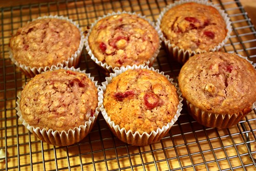leftover-cranberry-sauce-muffins