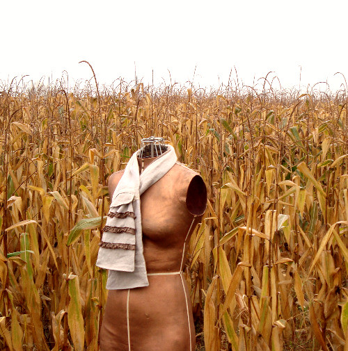 scarf in the corn