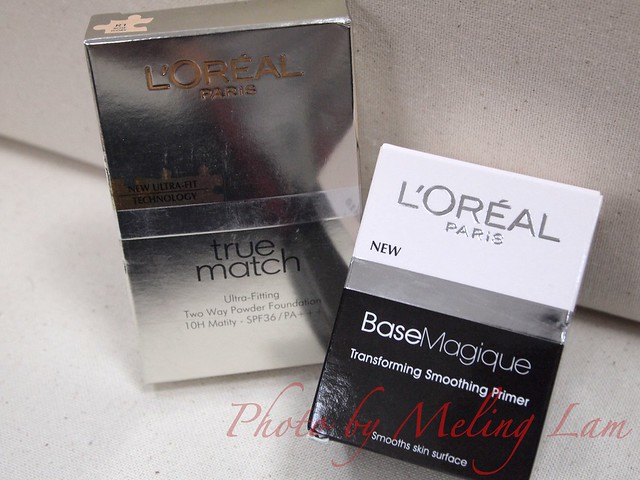 L'Oreal Paris Base Magique 雪葩細緻底霜 L'Oreal Paris True Match 粉餅