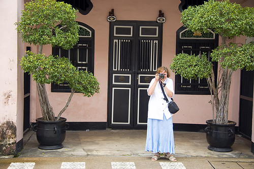 Mum outside house on Krabi Road