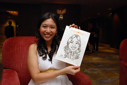 Caricature live sketching for The DPH Sunflower Ball 2010 -4