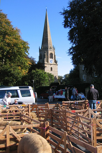 View of the church at Masham