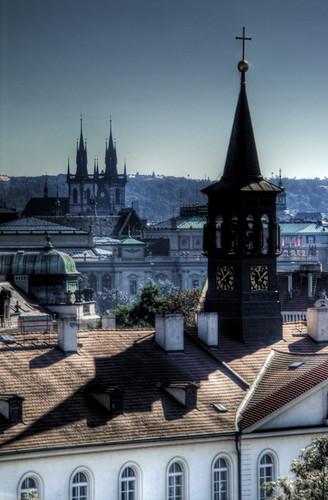Bell towers. Prague. Campanarios. Praga