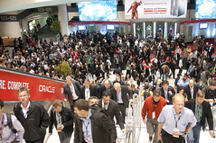 After Welcome Keynote, Oracle OpenWorld & JavaOne + Develop 2010, Moscone North