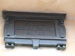 Photo of Frederic Leighton bronze plaque