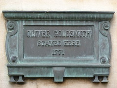 Photo of Oliver Goldsmith bronze plaque