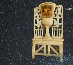King Tut and his queen are revealed when this alabaster lamp is lit in virtual Amarna (Akhetaten) (mharrsch) Tags: lamp kingtut ancient egypt 18thdynasty nefertiti akhenaten tutankhamun alabaster virtualworld meritaten amarna virtualenvironment mharrsch akhetaten heritagekey