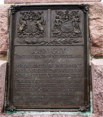 Plaque from the city of Bristol and the Society of Merchant Venturers of Bristol