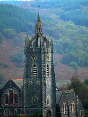 Evensong (howbeg) Tags: canon scotland argyll clocktower panasonic handheld tarbert 75150