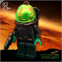 October 25 - Little Green Women From Mars (Morgan190) Tags: men green halloween women october advent calendar lego little alien minifig custom martian 2010 m19 minifigure brickarms morgan19 pewmpewm