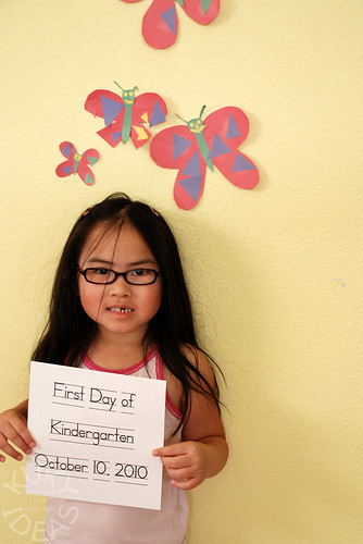 First day of kindergarten. Ooops wrong day