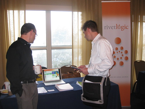 Rivet Logic booth at Lucene Revolution