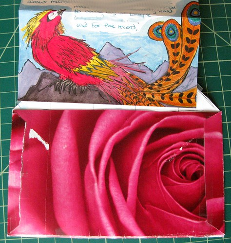 Quetzal stationery + rose envelope