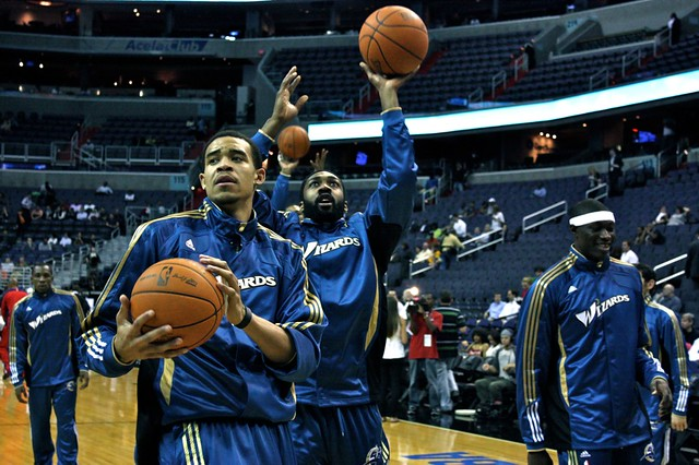 gilbert arenas, javale mcgee, washington wizards