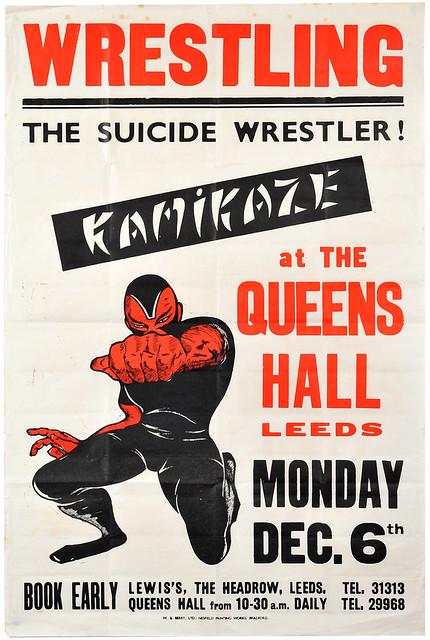 wrestling poster, leeds
