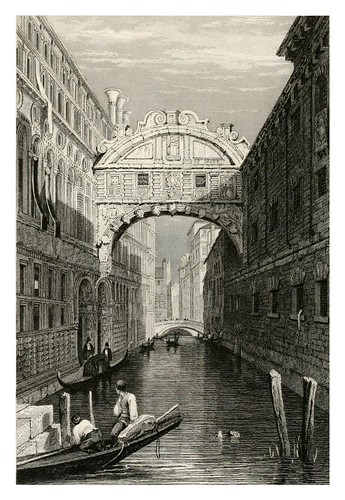 019-El puente de los Suspiros en Venecia-The tourist in Switzerland and Italy-1830-Samuel Prout