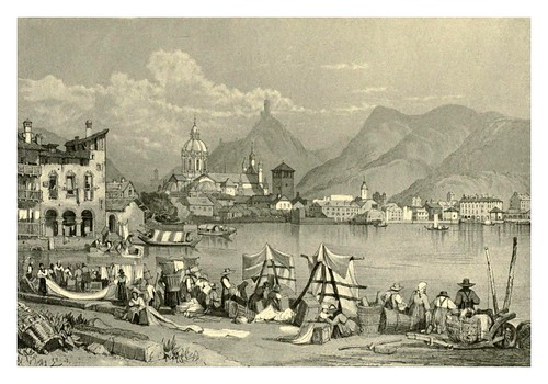040-Como-Italia-Sketches by Samuel Prout in France Belgium….1915