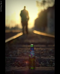 1664 (Le***Refs *PHOTOGRAPHIE*) Tags: light sunset silhouette 50mm nikon focus bokeh perspective rail explore lumiere rails f18 vf coucherdesoleil biere sncf 1664 d90 explored lerefs voieferrer